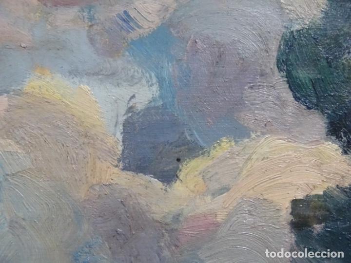 Arte: EXCELENTE ÓLEO SOBRE TABLA DE JOAQUIM VANCELLS I VIETA.PAISAJE TORMENTOSO. - Foto 10 - 238148795