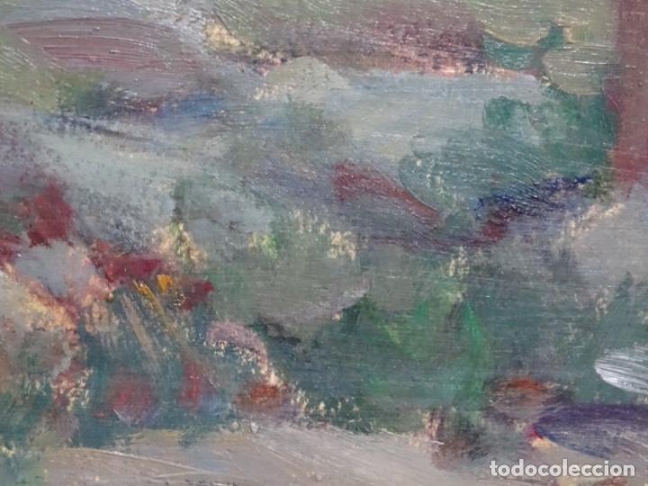 Arte: EXCELENTE ÓLEO SOBRE TABLA DE JOAQUIM VANCELLS I VIETA.PAISAJE TORMENTOSO. - Foto 11 - 238148795