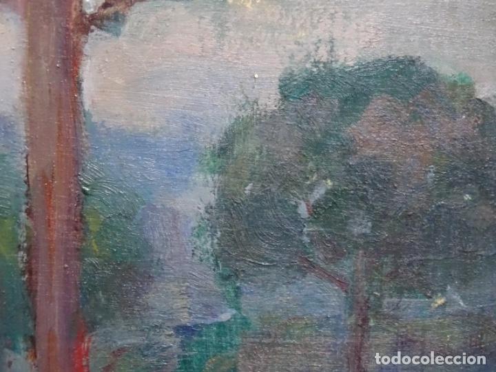 Arte: EXCELENTE ÓLEO SOBRE TABLA DE JOAQUIM VANCELLS I VIETA.PAISAJE TORMENTOSO. - Foto 13 - 238148795