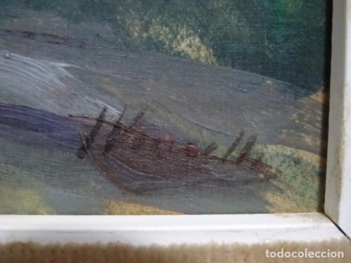 Arte: EXCELENTE ÓLEO SOBRE TABLA DE JOAQUIM VANCELLS I VIETA.PAISAJE TORMENTOSO. - Foto 15 - 238148795