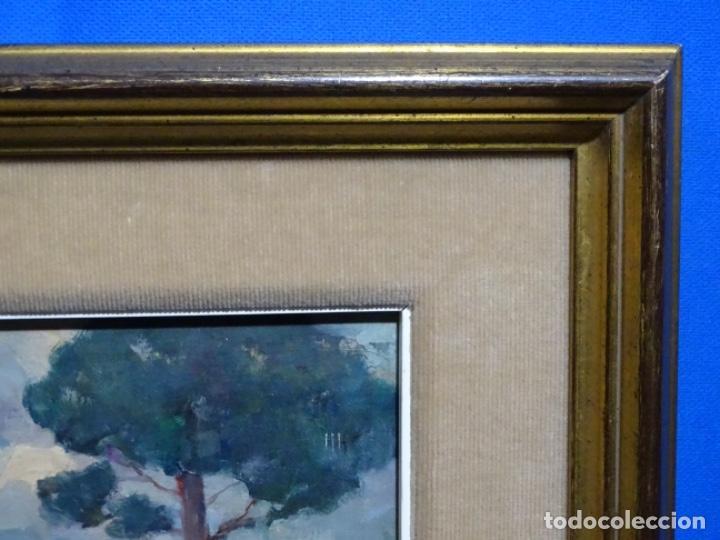 Arte: EXCELENTE ÓLEO SOBRE TABLA DE JOAQUIM VANCELLS I VIETA.PAISAJE TORMENTOSO. - Foto 16 - 238148795