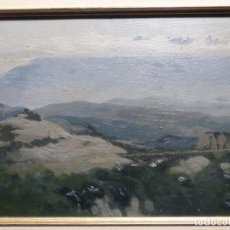 Arte: ÓLEO SOBRE TABLA DE PERE VIVER I AYMERICH (1873-1917).PAISAJE DE SANT LLORENS. Lote 238150330