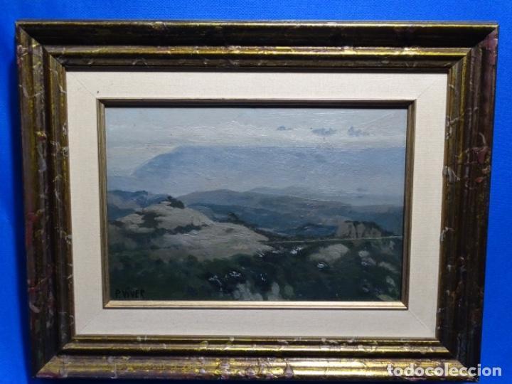 Arte: ÓLEO SOBRE TABLA DE PERE VIVER I AYMERICH (1873-1917).PAISAJE DE SANT LLORENS - Foto 2 - 238150330