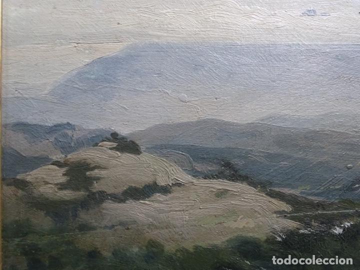 Arte: ÓLEO SOBRE TABLA DE PERE VIVER I AYMERICH (1873-1917).PAISAJE DE SANT LLORENS - Foto 3 - 238150330