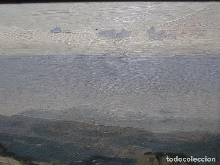 Arte: ÓLEO SOBRE TABLA DE PERE VIVER I AYMERICH (1873-1917).PAISAJE DE SANT LLORENS - Foto 4 - 238150330