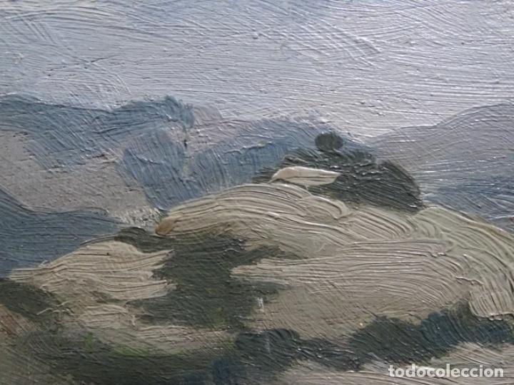 Arte: ÓLEO SOBRE TABLA DE PERE VIVER I AYMERICH (1873-1917).PAISAJE DE SANT LLORENS - Foto 8 - 238150330