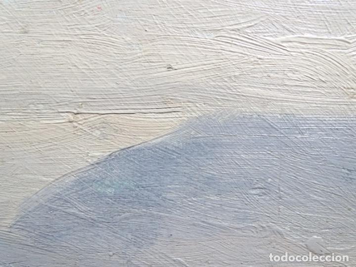 Arte: ÓLEO SOBRE TABLA DE PERE VIVER I AYMERICH (1873-1917).PAISAJE DE SANT LLORENS - Foto 9 - 238150330