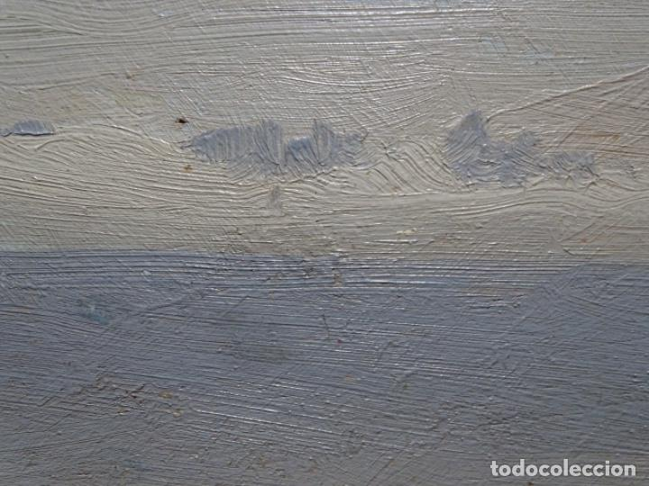 Arte: ÓLEO SOBRE TABLA DE PERE VIVER I AYMERICH (1873-1917).PAISAJE DE SANT LLORENS - Foto 10 - 238150330
