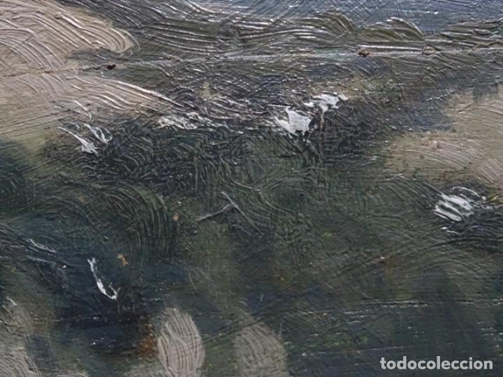 Arte: ÓLEO SOBRE TABLA DE PERE VIVER I AYMERICH (1873-1917).PAISAJE DE SANT LLORENS - Foto 12 - 238150330
