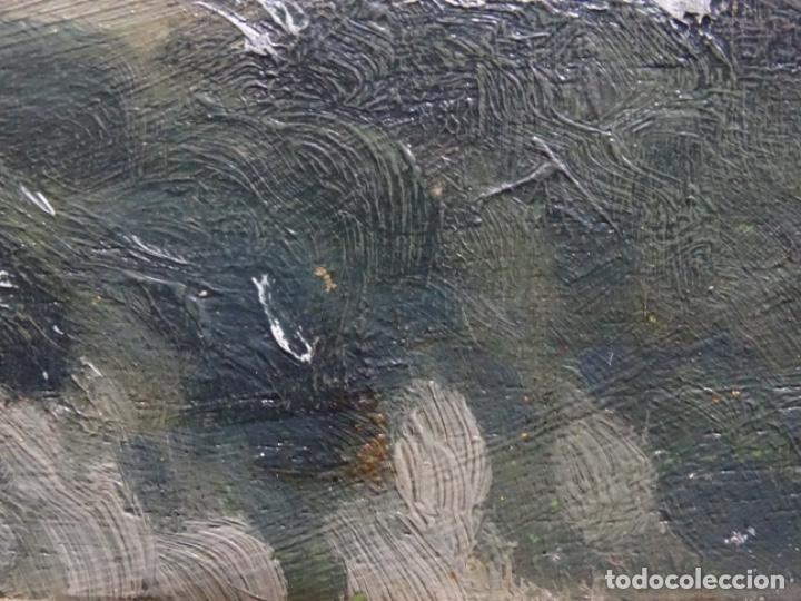 Arte: ÓLEO SOBRE TABLA DE PERE VIVER I AYMERICH (1873-1917).PAISAJE DE SANT LLORENS - Foto 13 - 238150330