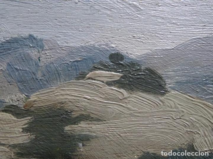 Arte: ÓLEO SOBRE TABLA DE PERE VIVER I AYMERICH (1873-1917).PAISAJE DE SANT LLORENS - Foto 15 - 238150330