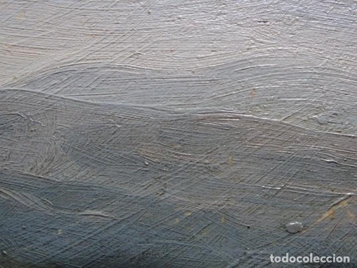 Arte: ÓLEO SOBRE TABLA DE PERE VIVER I AYMERICH (1873-1917).PAISAJE DE SANT LLORENS - Foto 17 - 238150330