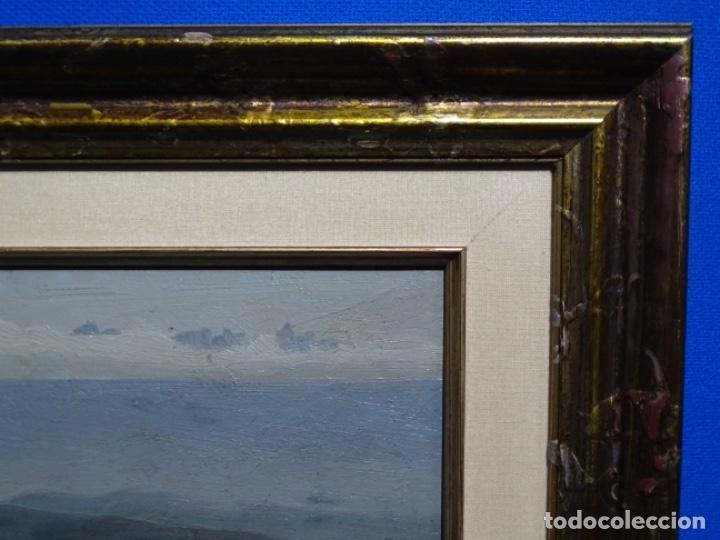Arte: ÓLEO SOBRE TABLA DE PERE VIVER I AYMERICH (1873-1917).PAISAJE DE SANT LLORENS - Foto 20 - 238150330