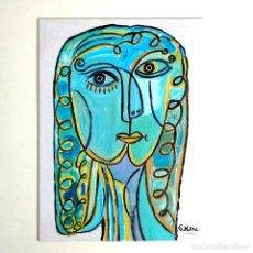 Arte: CUADRO, PINTURA CUBISTA, ASTRACTO, FIRMADO.. Lote 238327875