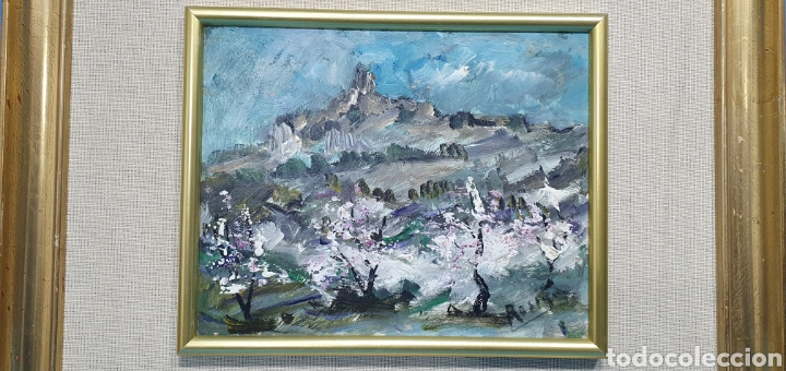 Arte: CUADRO DE PAISAJE - ROSIQUE - PINTOR MURCIANO - ÓLEO SOBRE TABLA, Medidas: 24×19 cm aprox - Foto 2 - 238579255