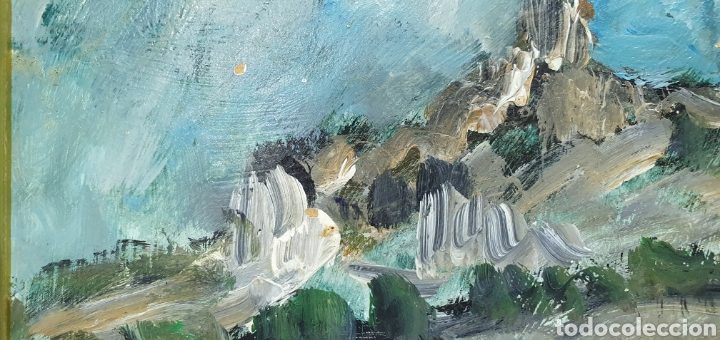 Arte: CUADRO DE PAISAJE - ROSIQUE - PINTOR MURCIANO - ÓLEO SOBRE TABLA, Medidas: 24×19 cm aprox - Foto 6 - 238579255