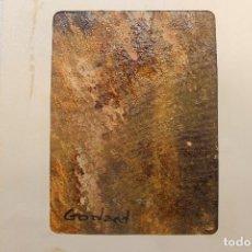 Arte: GODARD, PINTURA ORIGINAL SOBRE LIENZO, 15X20 CM, 1975. Lote 238667125