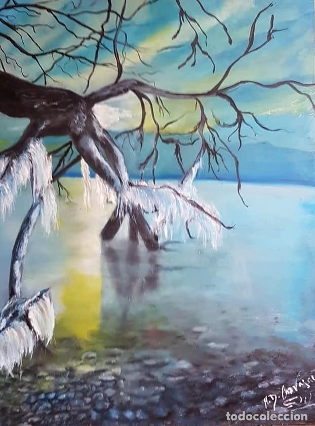 MARINA CON ARBOL (Arte - Pintura - Pintura al Óleo Contemporánea )