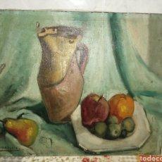 Art: BODEGÓN A ÓLEO JUAN FERNÁNDEZ IBARLOZA. JUANON. Lote 239365445