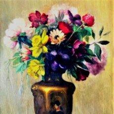 Arte: JARRON FLORAL ANONIMO S. XIX. Lote 239402730
