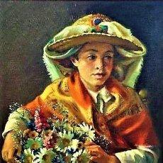 Arte: JOVEN IBICENCA NICOLAS PUIG IBAÑEZ 1904 - 1987. Lote 239409830
