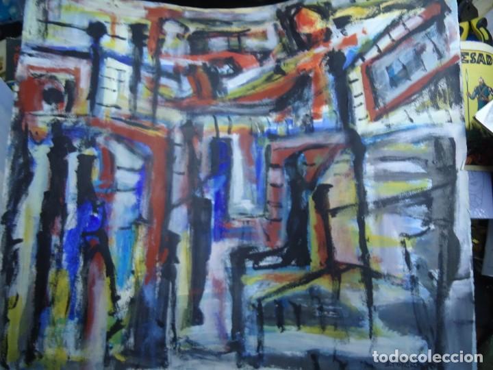 ALFREDO ROLDÁN GUASCH SOBRE PAPEL MIDE 50 X 56 CM MAGNIFICA OBRA DE UNA BUENA ÉPOCA Y GRAN TAMAÑO (Arte - Pintura - Pintura al Óleo Contemporánea )