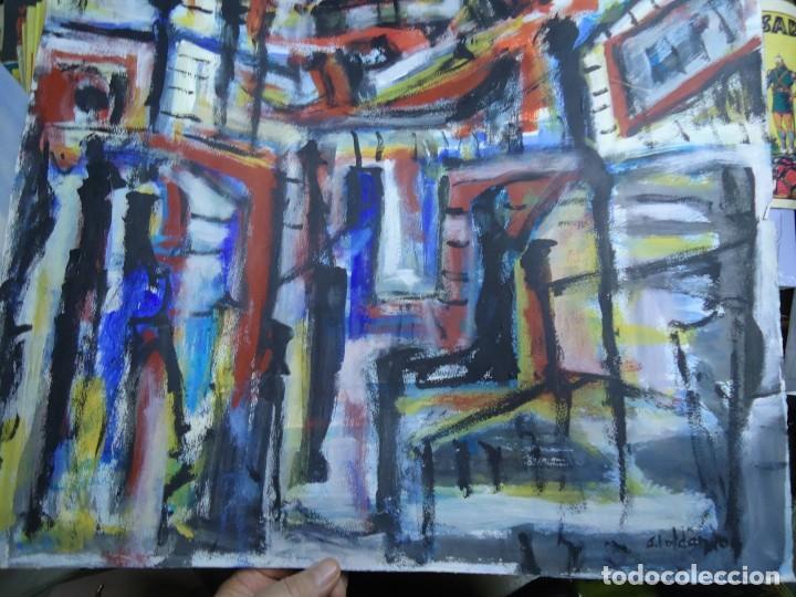 Arte: ALFREDO ROLDÁN GUASCH SOBRE PAPEL MIDE 50 X 56 cm MAGNIFICA OBRA DE UNA BUENA ÉPOCA Y GRAN TAMAÑO - Foto 4 - 239644130