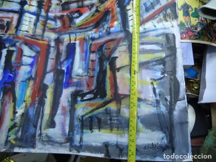 Arte: ALFREDO ROLDÁN GUASCH SOBRE PAPEL MIDE 50 X 56 cm MAGNIFICA OBRA DE UNA BUENA ÉPOCA Y GRAN TAMAÑO - Foto 5 - 239644130