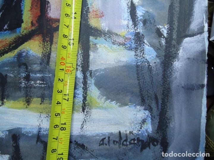 Arte: ALFREDO ROLDÁN GUASCH SOBRE PAPEL MIDE 50 X 56 cm MAGNIFICA OBRA DE UNA BUENA ÉPOCA Y GRAN TAMAÑO - Foto 6 - 239644130