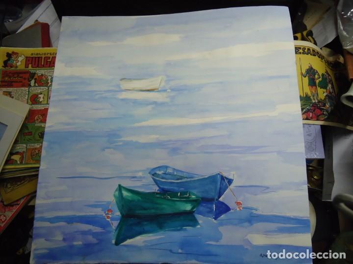 ALFREDO ROLDÁN ACUARELA SOBRE PAPEL MIDE 48 X 46 CM MAGNIFICA OBRA REALISTA 2006 FIRMADA (Arte - Pintura - Pintura al Óleo Contemporánea )