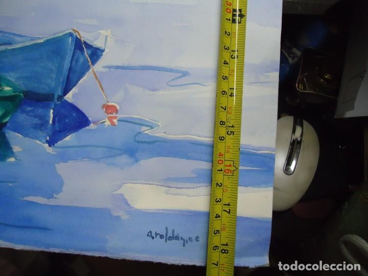 Arte: ALFREDO ROLDÁN ACUARELA SOBRE PAPEL MIDE 48 X 46 cm MAGNIFICA OBRA REALISTA 2006 firmada - Foto 4 - 239644735