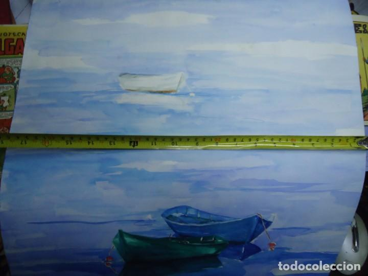 Arte: ALFREDO ROLDÁN ACUARELA SOBRE PAPEL MIDE 48 X 46 cm MAGNIFICA OBRA REALISTA 2006 firmada - Foto 5 - 239644735