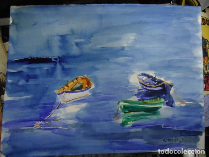 ALFREDO ROLDÁN ACUARELA SOBRE PAPEL MIDE 28 X 38 CM MAGNIFICA OBRA REALISTA 2007 FIRMADA (Arte - Pintura - Pintura al Óleo Contemporánea )