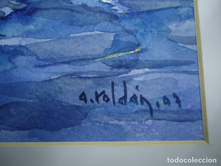 Arte: ALFREDO ROLDÁN ACUARELA SOBRE PAPEL MIDE 32 X 46 cm MAGNIFICA OBRA REALISTA 2007 firmada - Foto 4 - 239645630