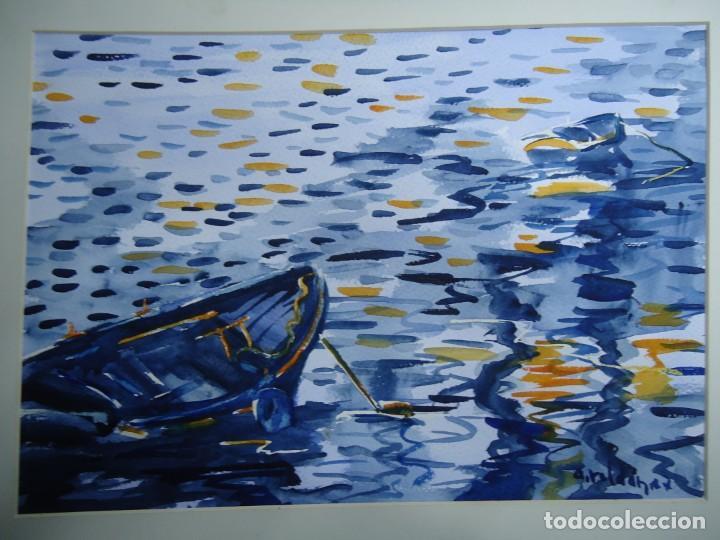 ALFREDO ROLDÁN ACUARELA SOBRE PAPEL MIDE 32 X 46 CM MAGNIFICA OBRA REALISTA 2007 FIRMADA (Arte - Pintura - Pintura al Óleo Contemporánea )