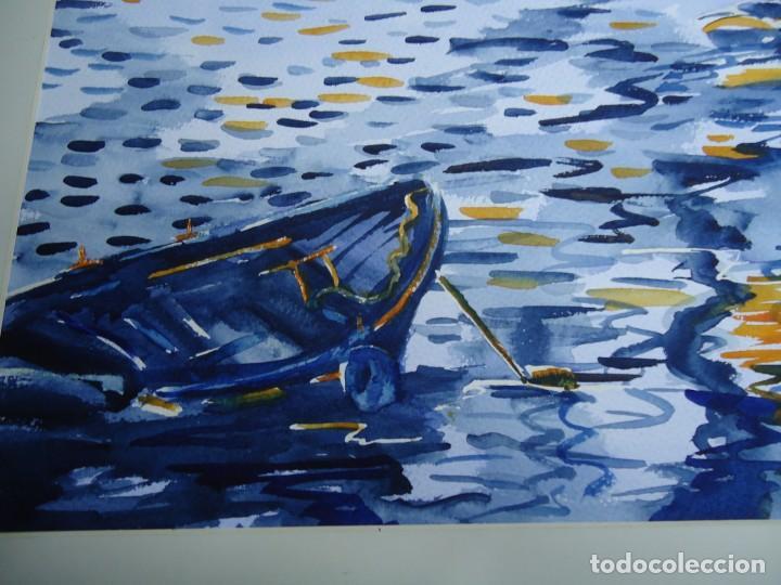Arte: ALFREDO ROLDÁN ACUARELA SOBRE PAPEL MIDE 32 X 46 cm MAGNIFICA OBRA REALISTA 2007 firmada - Foto 2 - 239646010