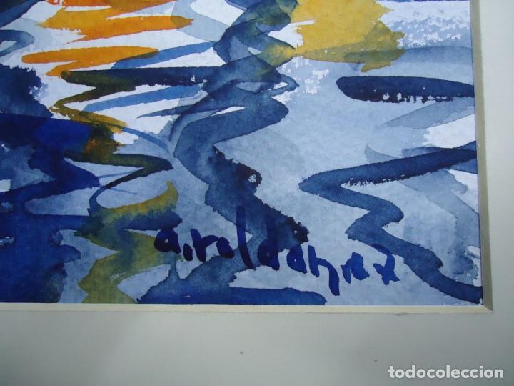 Arte: ALFREDO ROLDÁN ACUARELA SOBRE PAPEL MIDE 32 X 46 cm MAGNIFICA OBRA REALISTA 2007 firmada - Foto 3 - 239646010
