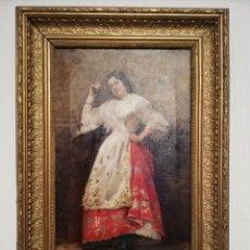 Arte: '' MARCELIANO SANTAMARIA '' ÓLEO SOBRE LIENZO S. XIX. Lote 239680580