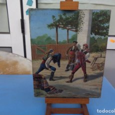 Arte: REYERTA A NAVAJA. OLEO TABLA M. PICOLO.. Lote 239744855