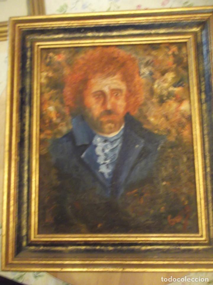 Arte: Muy antiguo Oleo Retrato tipo Van Gogh firmado y numerado 34,5 X 30 - Foto 2 - 239958145