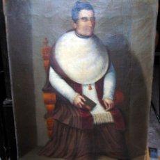 Arte: OLEO SOBRE LIENZO, MAESTRO CANTOR DE LA CATEDRAL DE VICH, ESCUELA CATALANA, VER FOTOS Y DESCRIPCIÓN. Lote 239976505