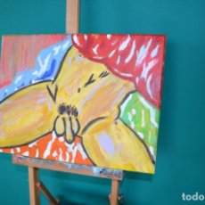Arte: ACRÍLICO SOBRE LIENZO - TÉCNICA MIXTA. DESNUDO. FIRMADO. Lote 239979500