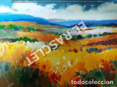 CUADRO -PAISATGE -OLEO SOBRE TELA - JOSEP MARFA GUARRO - BARCELONA - ANO 1975 (Arte - Pintura Directa del Autor)