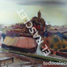 Arte: CUADRO -CADAQUES - ACUARELA - JOSEP MARFA GUARRO - BARCELONA - ANO 1988. Lote 240023865