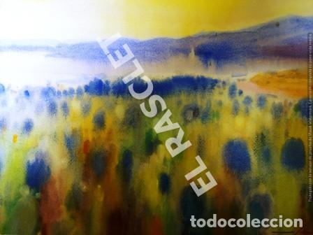 CUADRO -ACUARELA PAISATGE - JOSEP MARFA GUARRO - BARCELONA - (Arte - Pintura Directa del Autor)