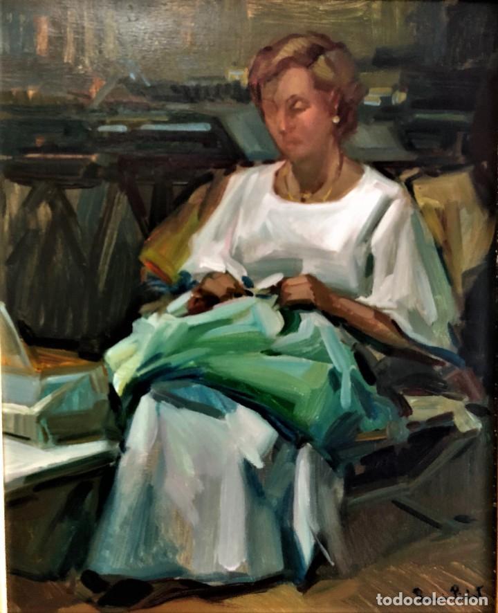 MUJER CON COSTURA RAMON PICHOT SOLER 1924 - 1987 (Arte - Pintura - Pintura al Óleo Moderna sin fecha definida)