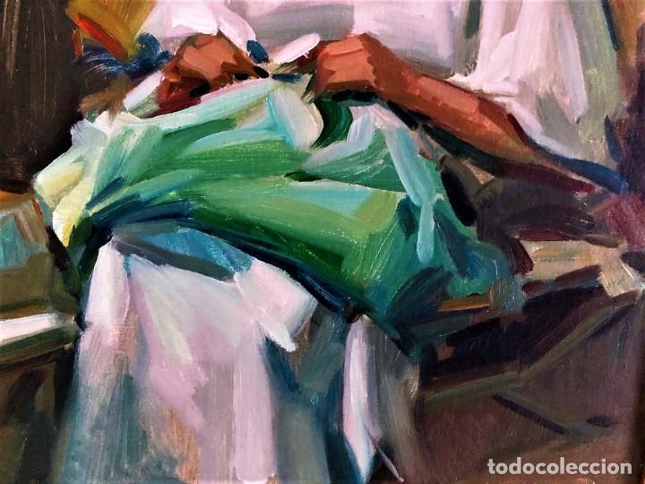 Arte: MUJER con COSTURA RAMON PICHOT SOLER 1924 - 1987 - Foto 3 - 240079605