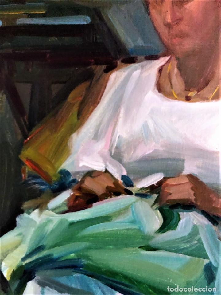 Arte: MUJER con COSTURA RAMON PICHOT SOLER 1924 - 1987 - Foto 4 - 240079605