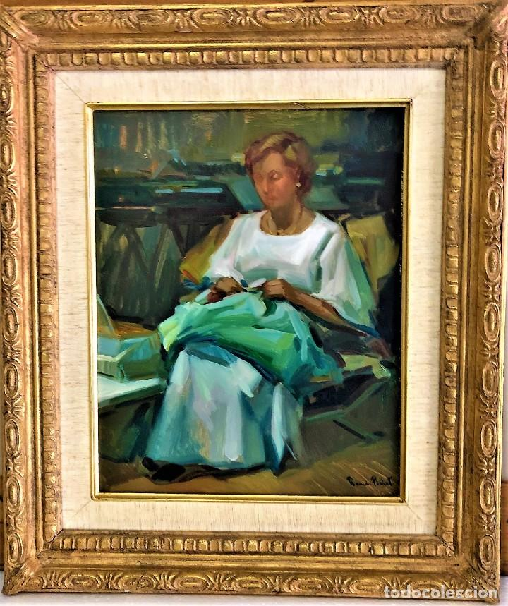 Arte: MUJER con COSTURA RAMON PICHOT SOLER 1924 - 1987 - Foto 5 - 240079605