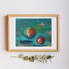 Arte: ARTE - PINTURA OLEO SOBRE LIENZO - MODERNA - GALAXIA - ABSTRACTA - UNIVERSO - FIRMADO 24 X 18 CM.. Lote 240108945